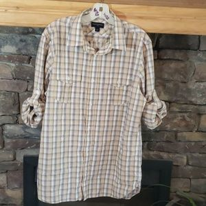 BANANA REPUBLIC BUTTON UP SZ L